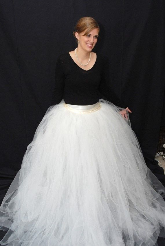 long tulle skirt tutorial