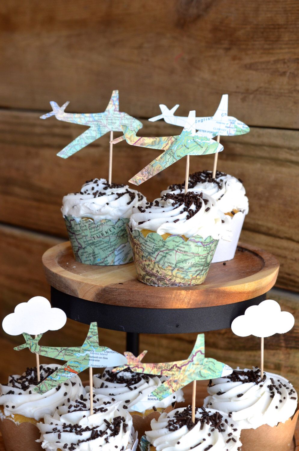 baby shower cupcake toppers tutorial