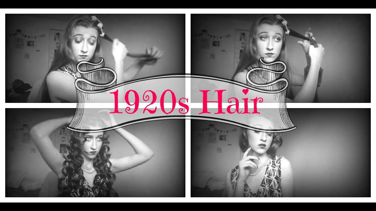 1920s hairstyle tutorial for long hair