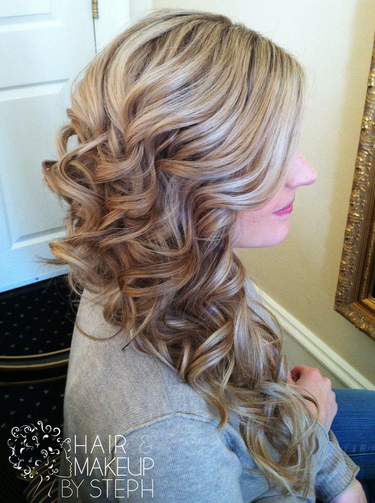 side swept curls tutorial