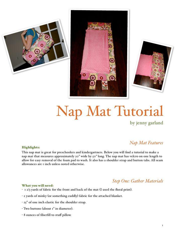 zcush baby nap mat tutorial