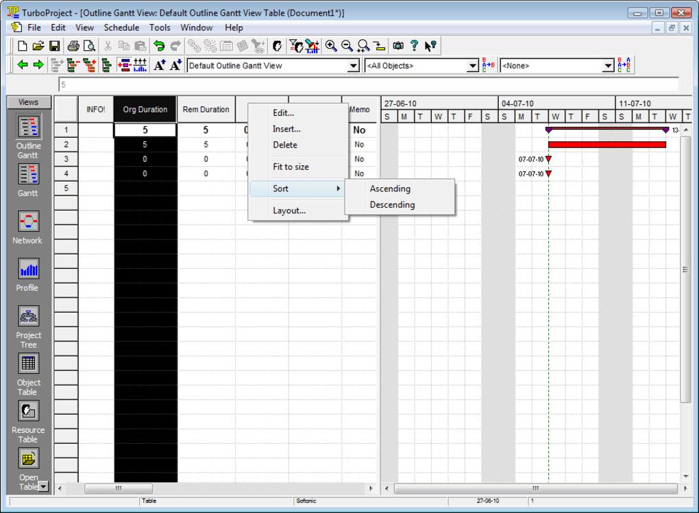 microsoft project 98 tutorial