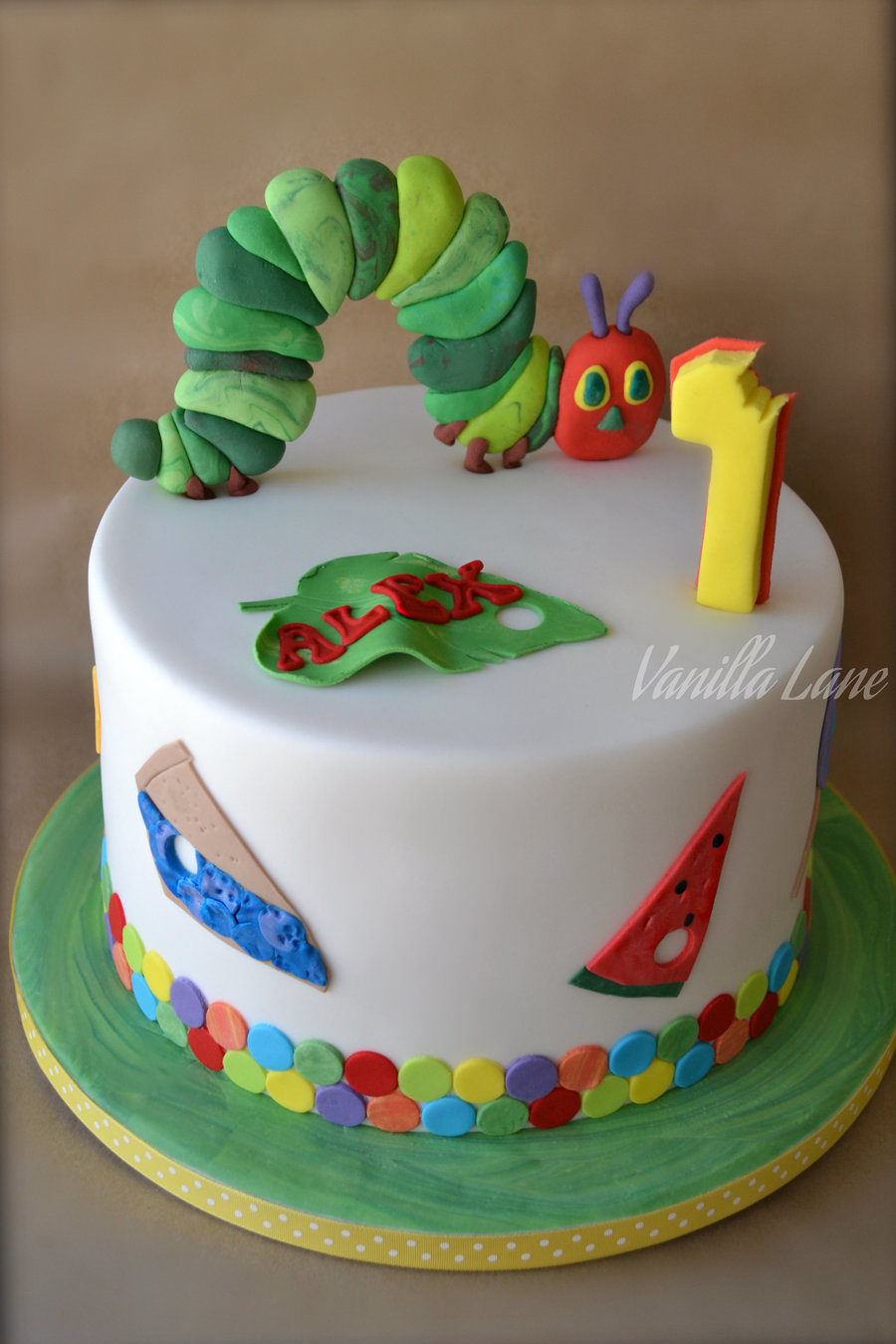 hungry caterpillar cake tutorial