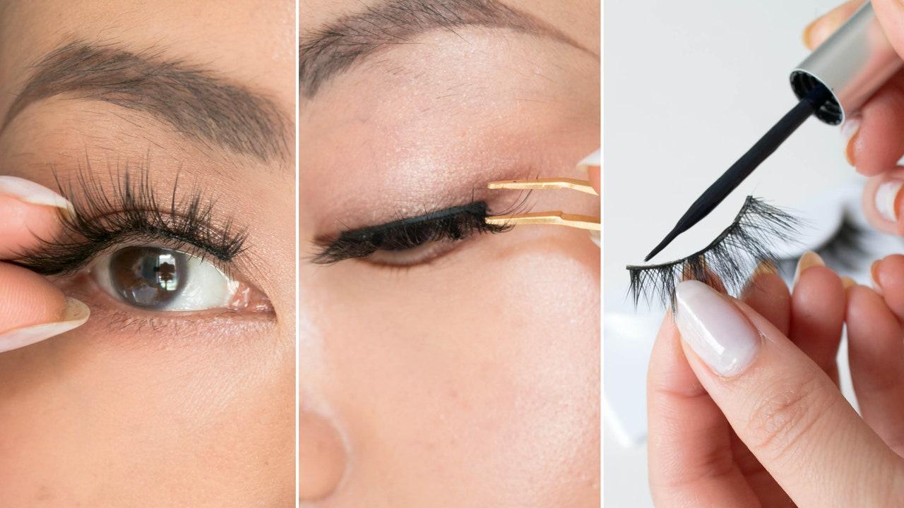 how to apply false eyelashes tutorial