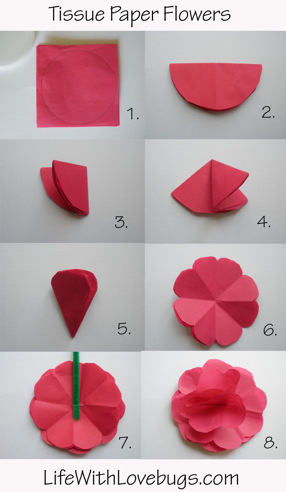 paper flower tutorial easy