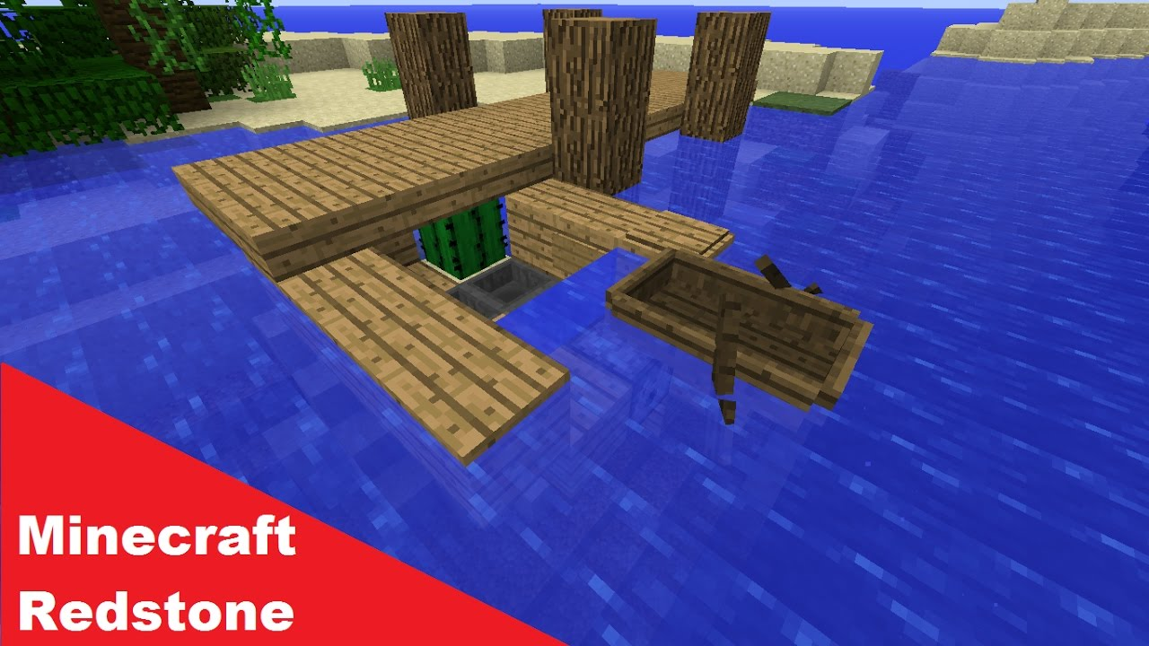 minecraft boat dock tutorial