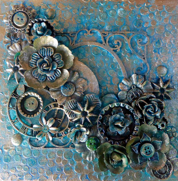mixed media canvas art tutorial