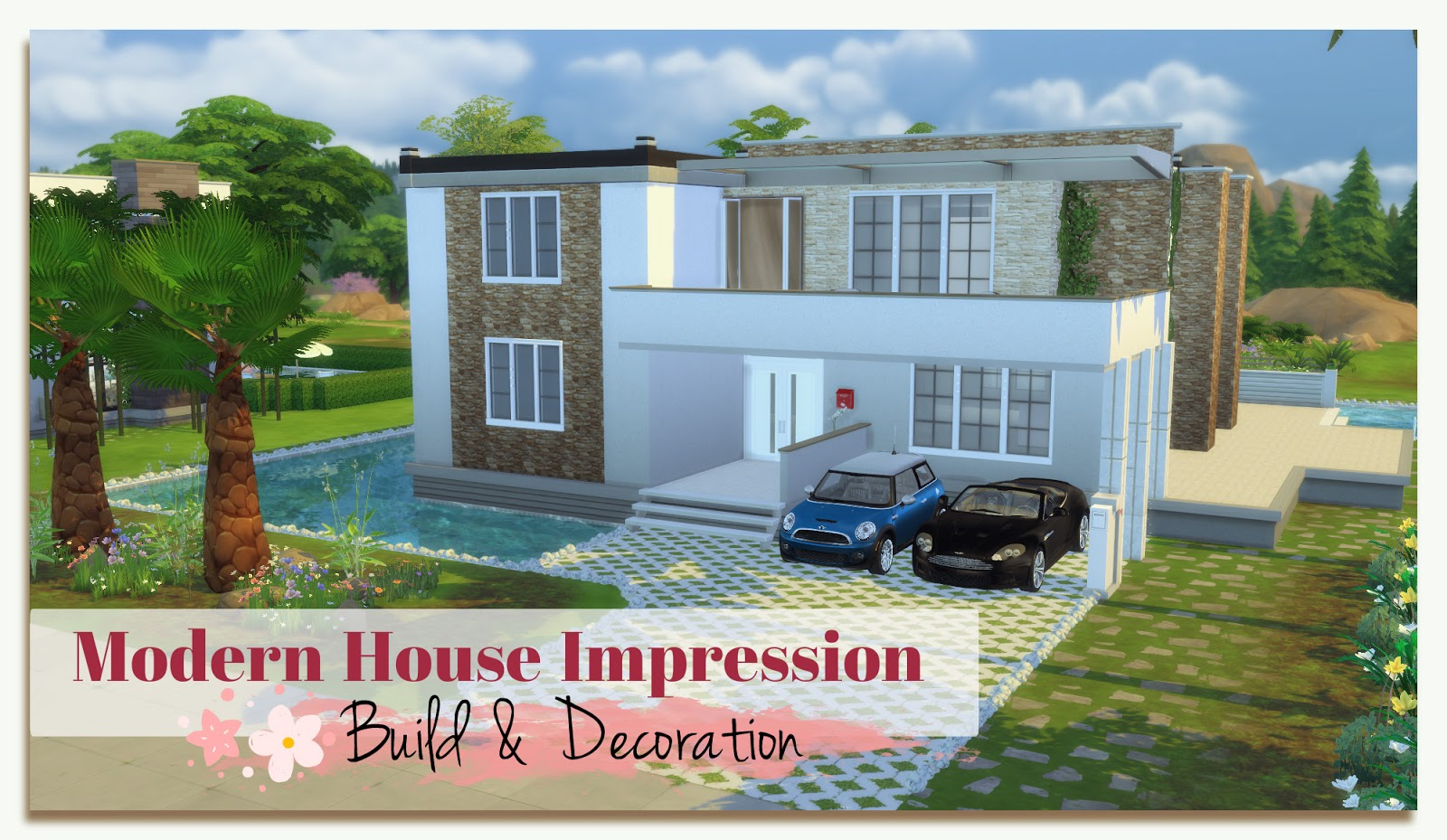 sims 3 modern house tutorial