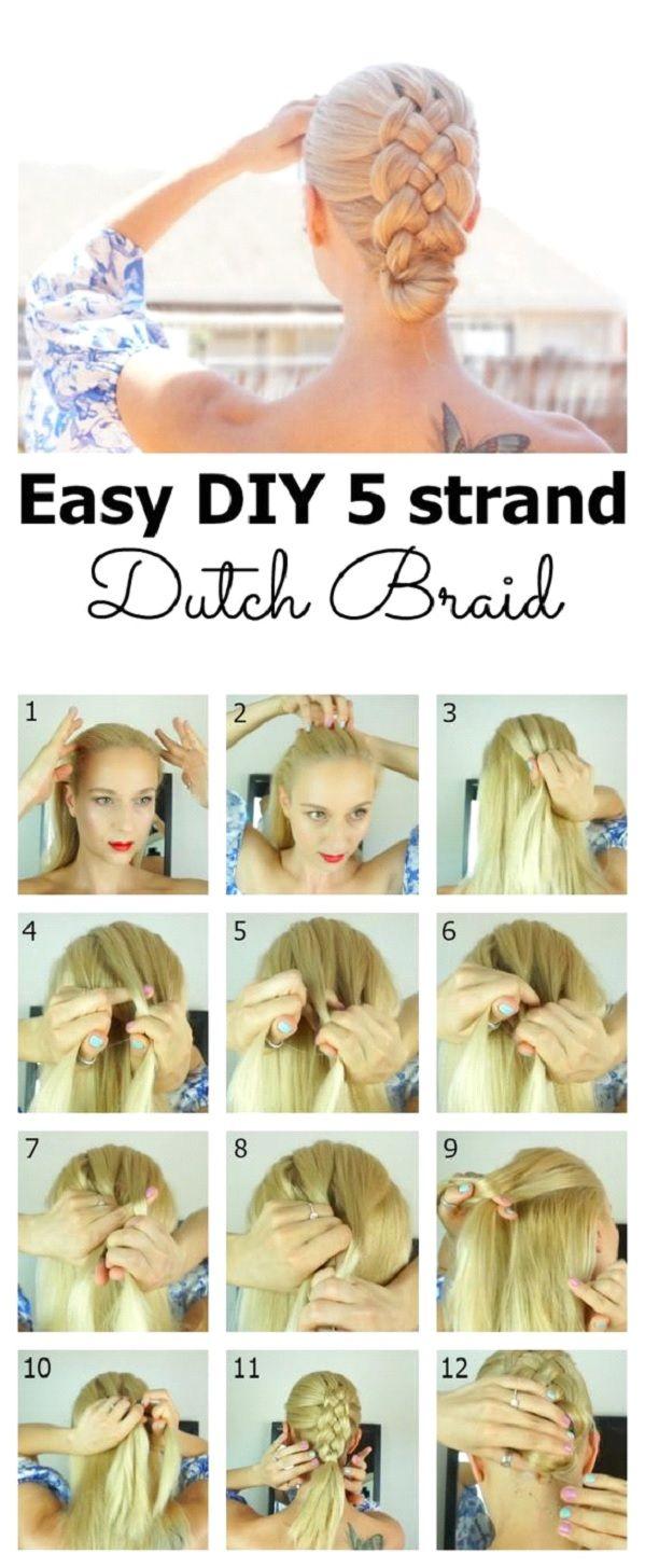 5 strand dutch braid tutorial