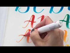 ecoline brush pen tutorial