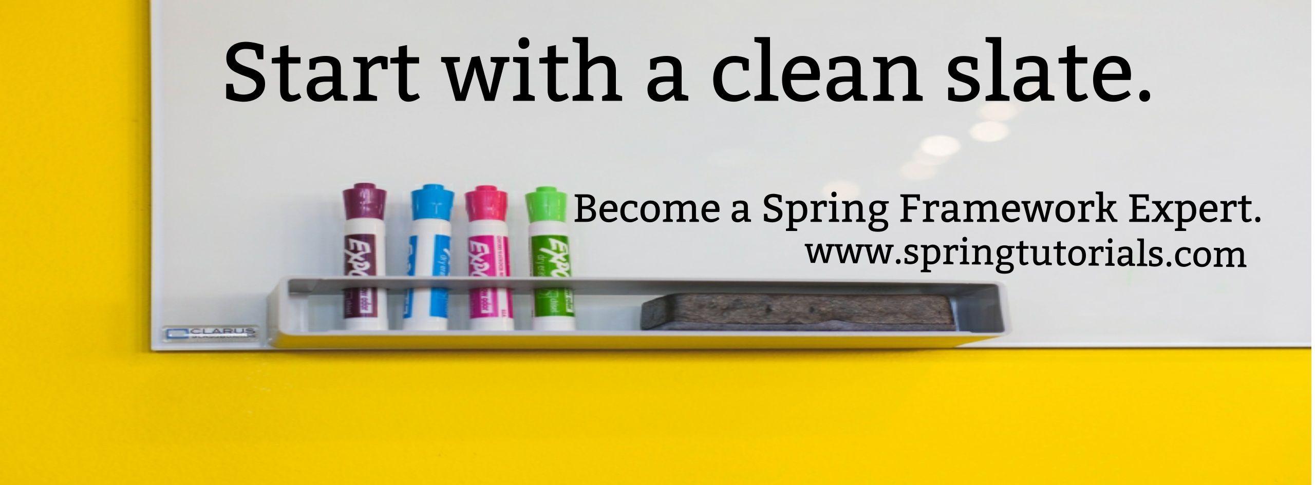 best spring framework tutorial