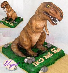 3d t rex cake tutorial