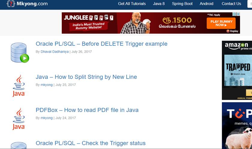 best java tutorial sites