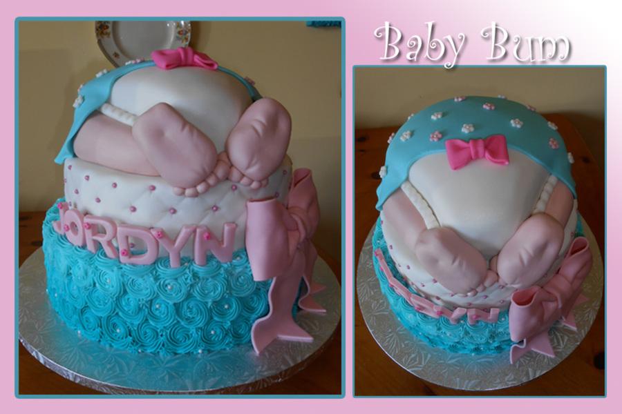 baby bum cake tutorial