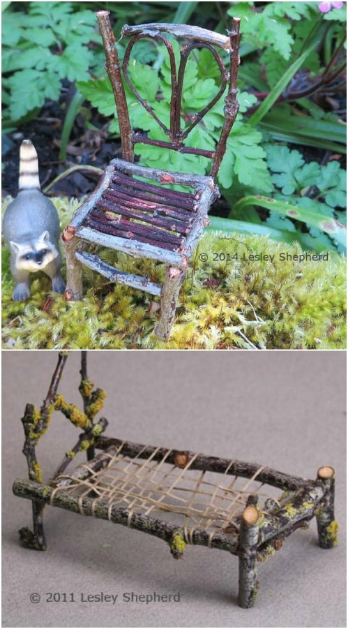 how to make fairy furniture tutorial