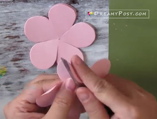 big paper flower tutorial