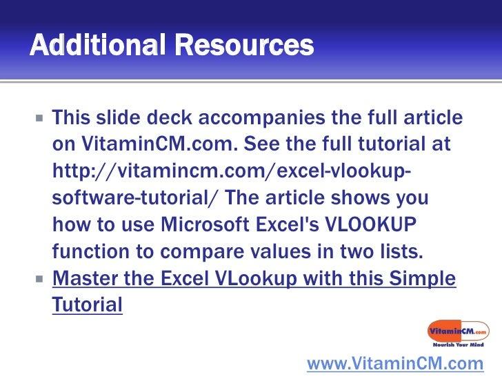 microsoft excel vlookup tutorial