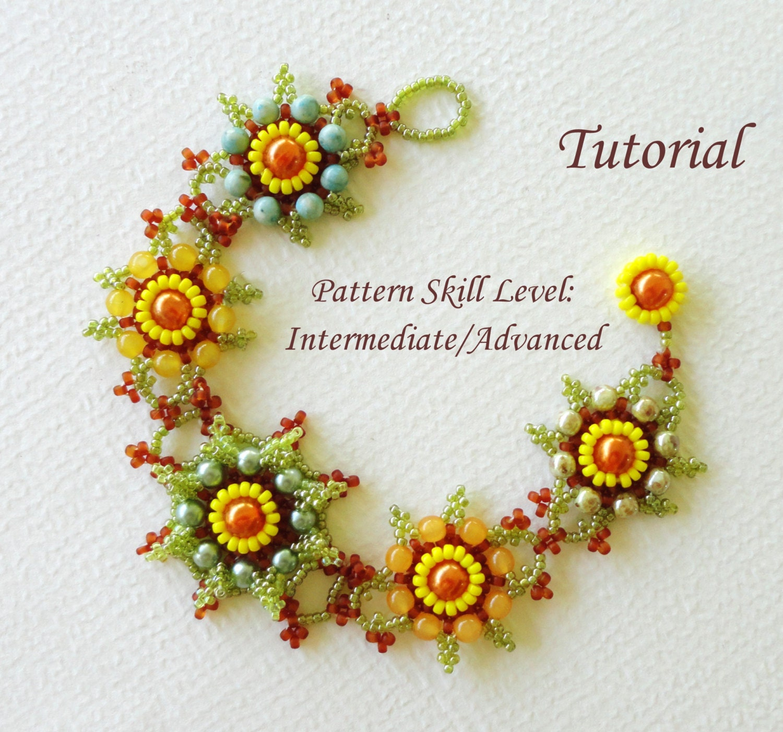 beaded bracelet tutorial pattern