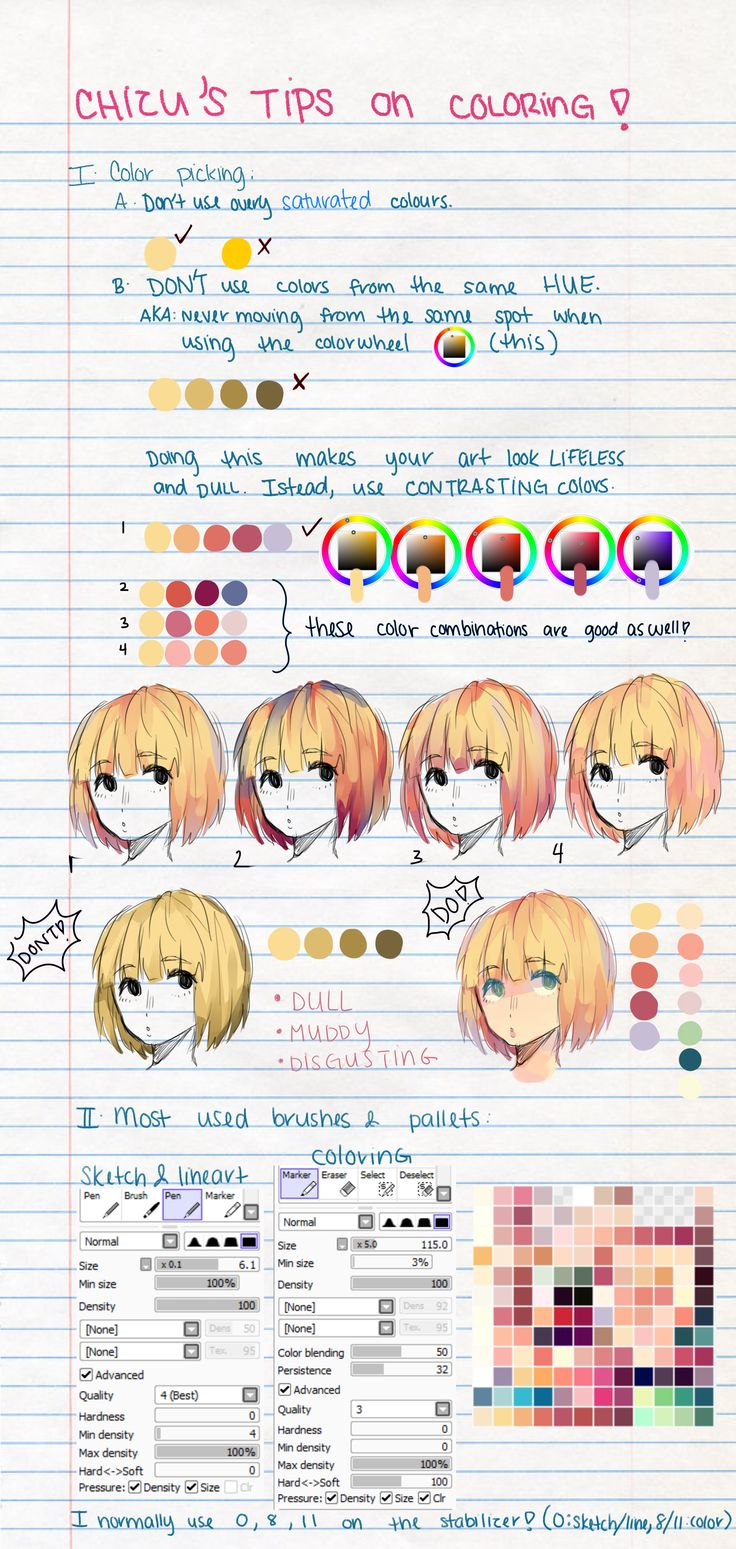 hair coloring tutorial sai
