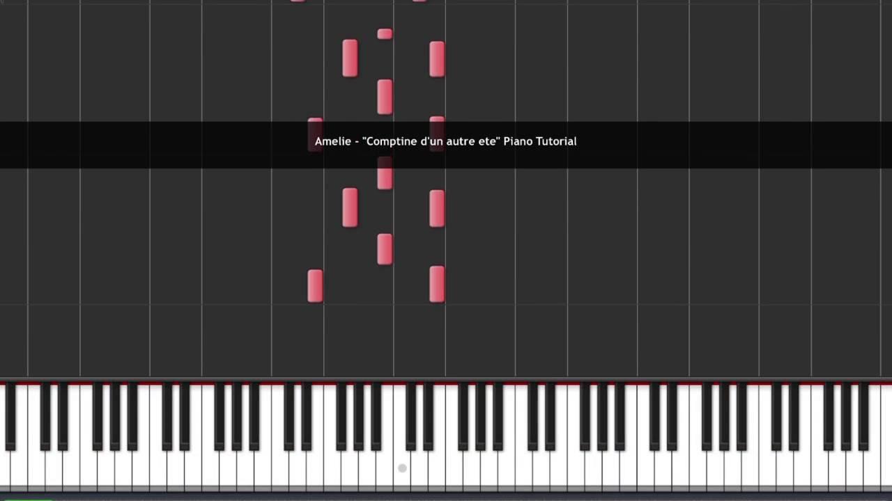 yann tiersen amelie piano tutorial