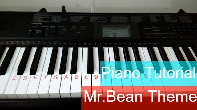 mr bean piano tutorial