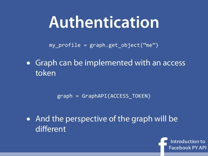 facebook api python tutorial