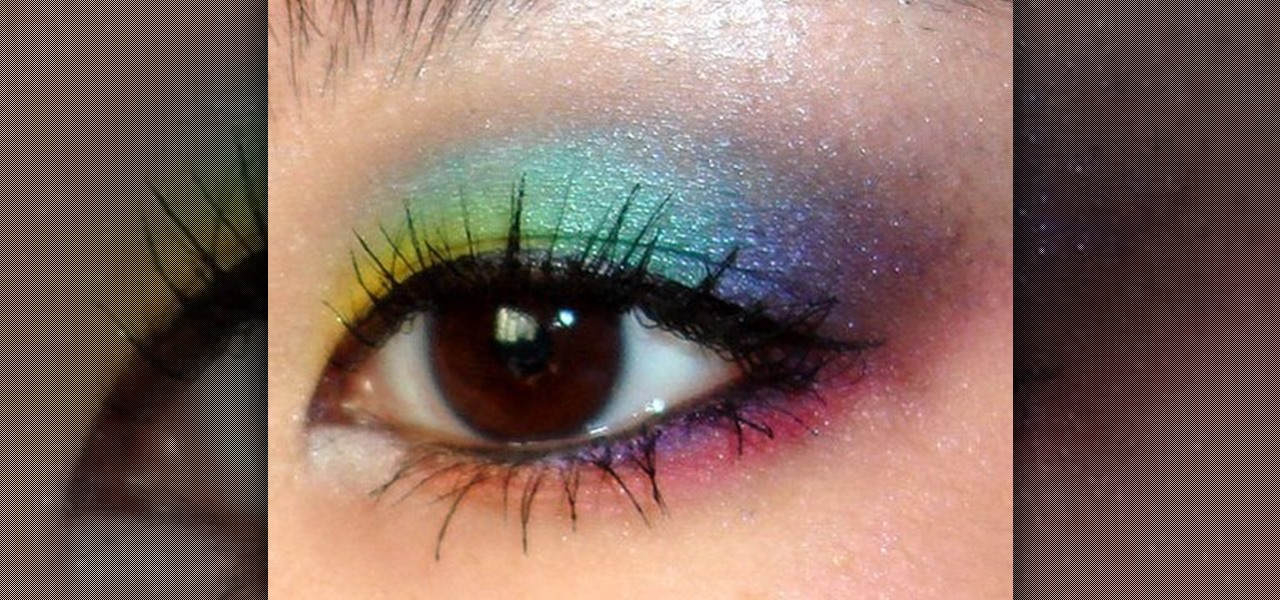 rainbow eye makeup tutorial