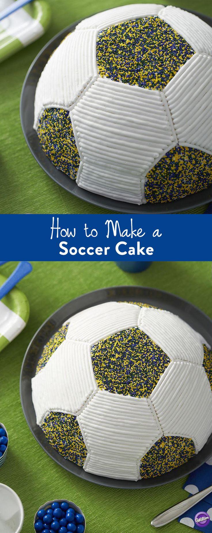 how to make soccer ball cake tutorial