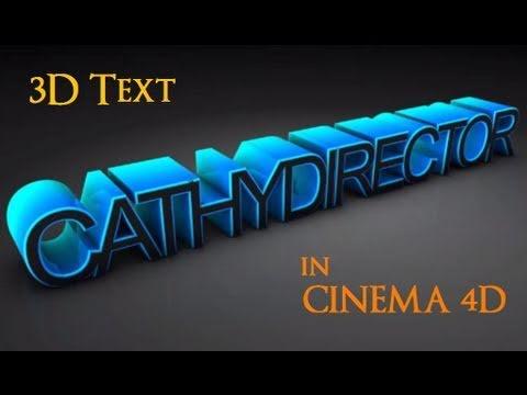 cinema 4d text effect tutorial