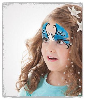 mermaid face paint tutorial
