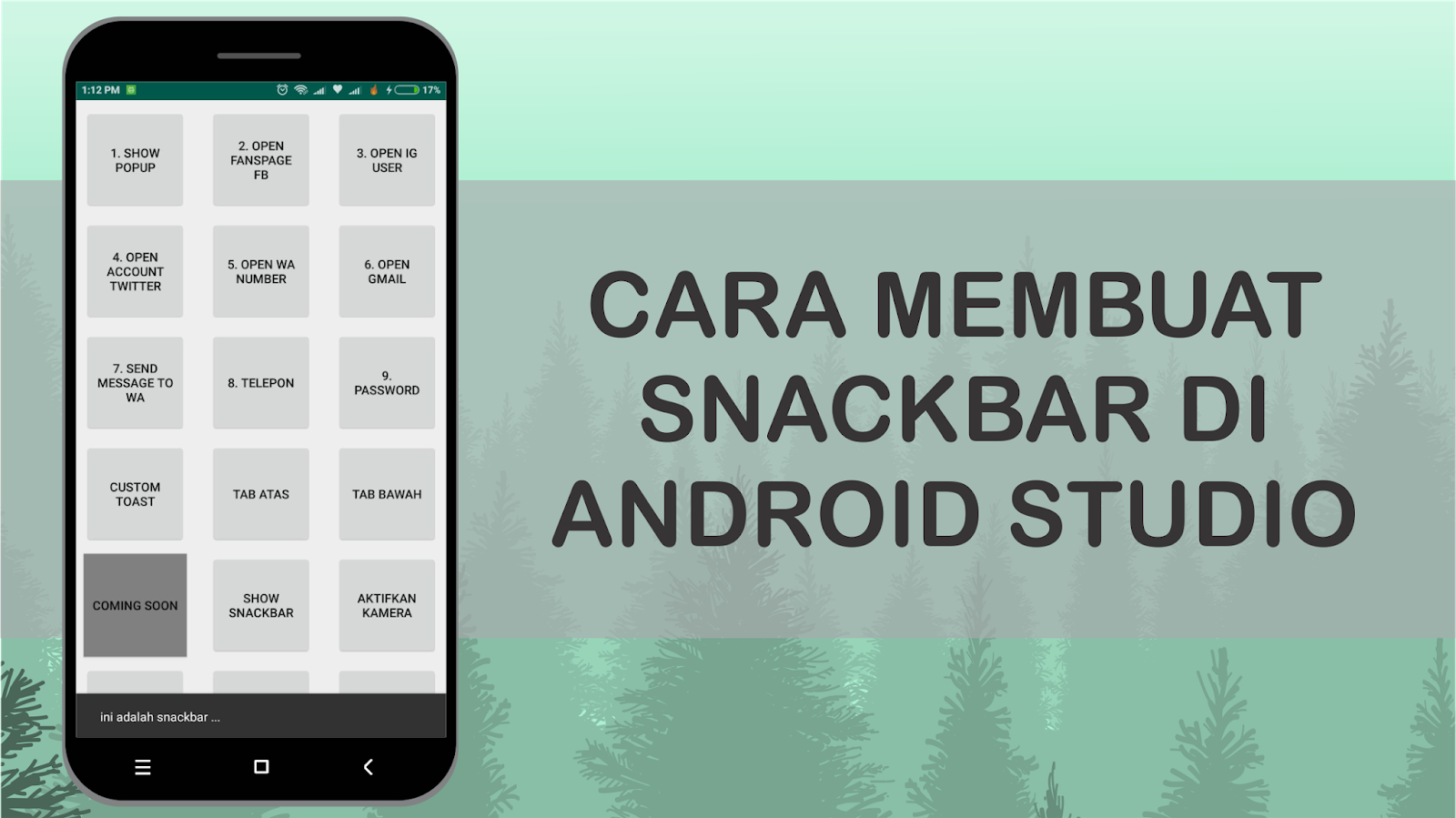 android tutorial with android studio