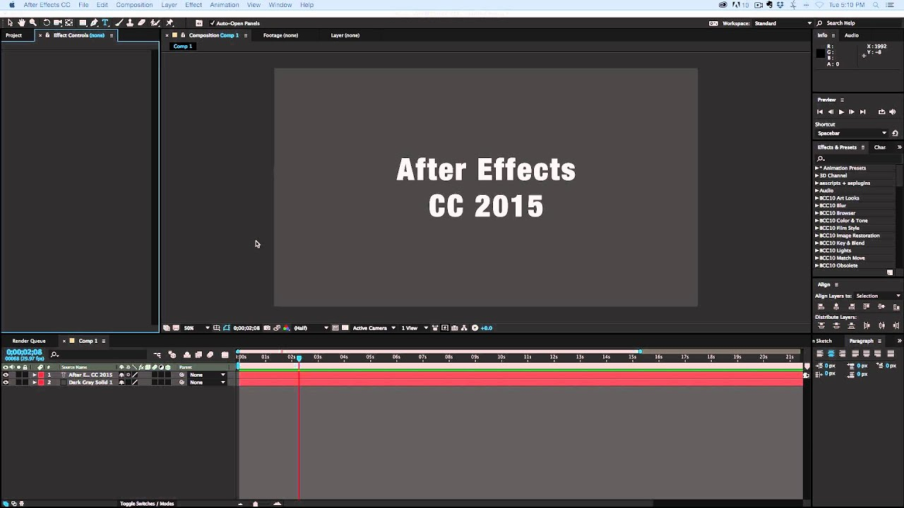 adobe after effects cc 2015 tutorial