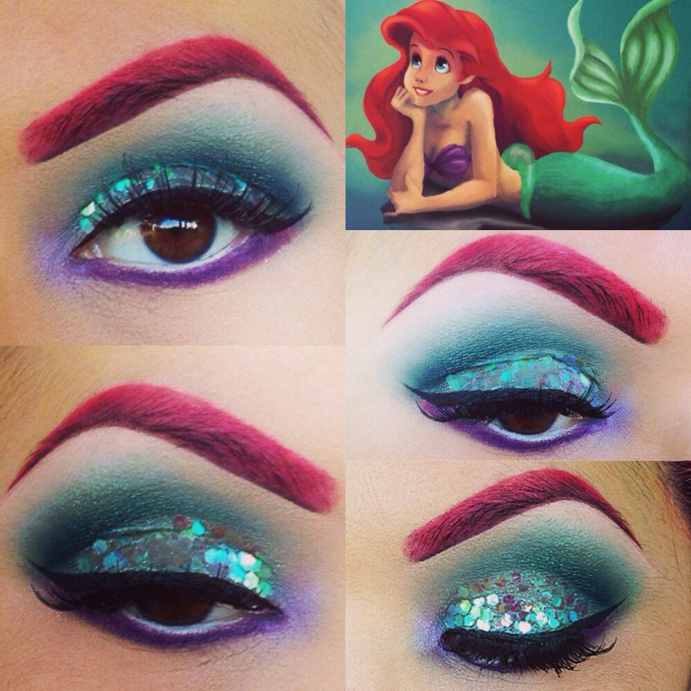ariel hair and makeup tutorial