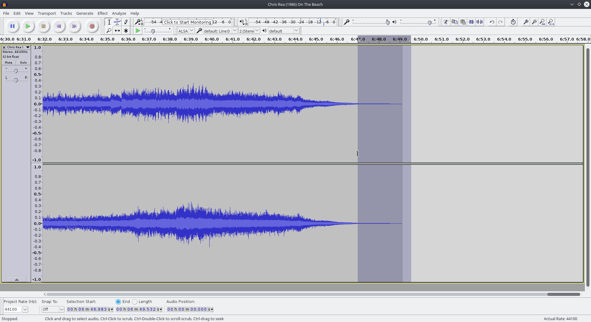 audacity fade out tutorial