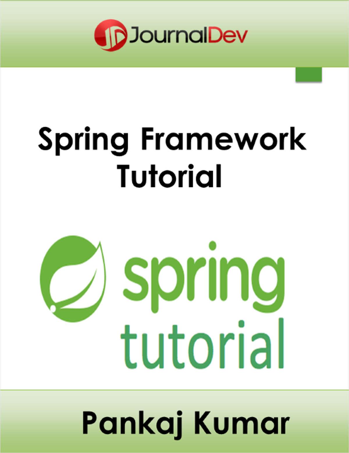 j2ee spring framework tutorial