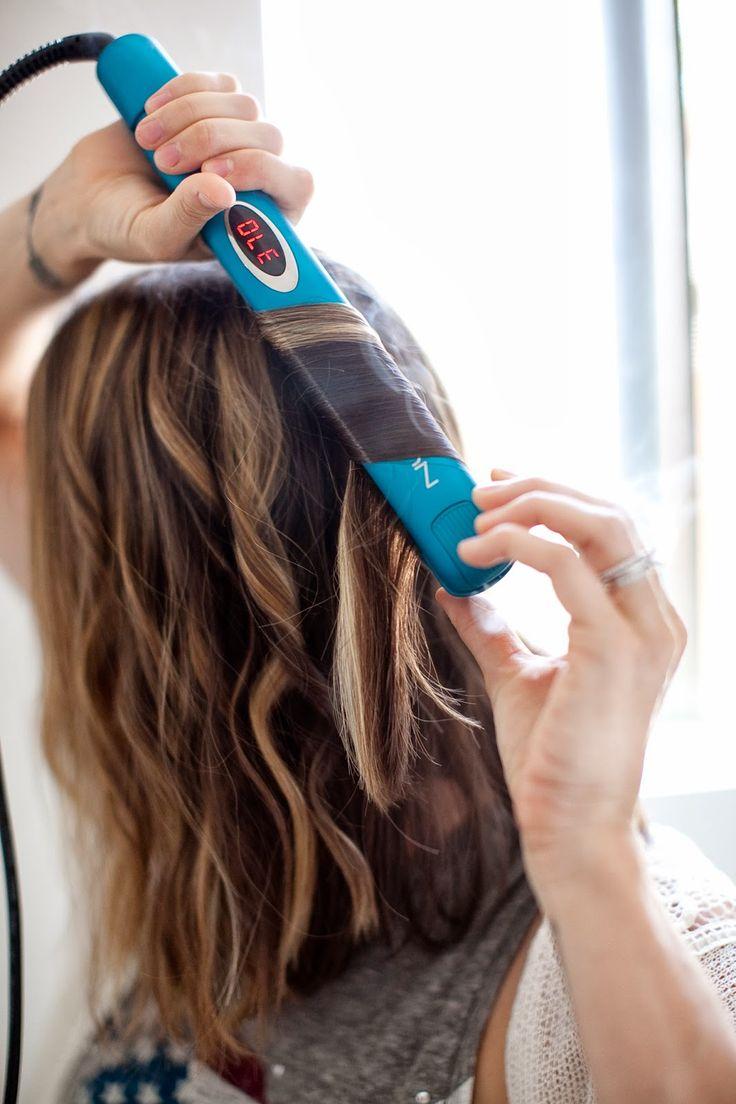 curling hair with straightener tutorial
