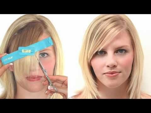 cutting side swept bangs tutorial