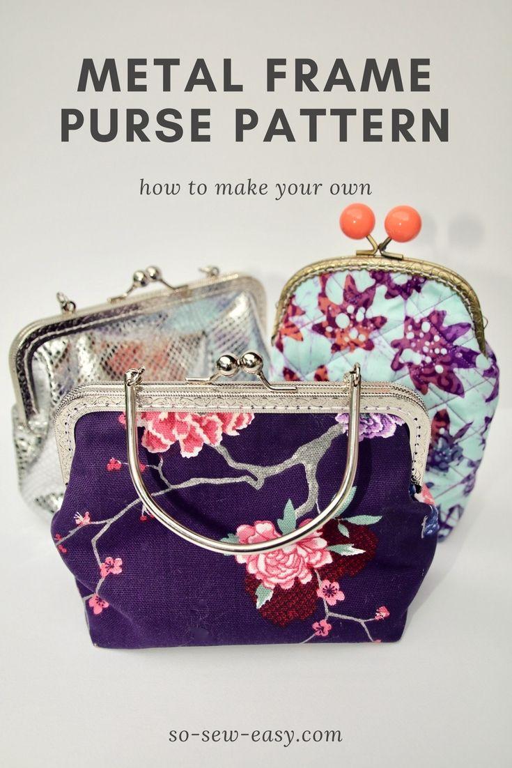 coin purse tutorial metal frame