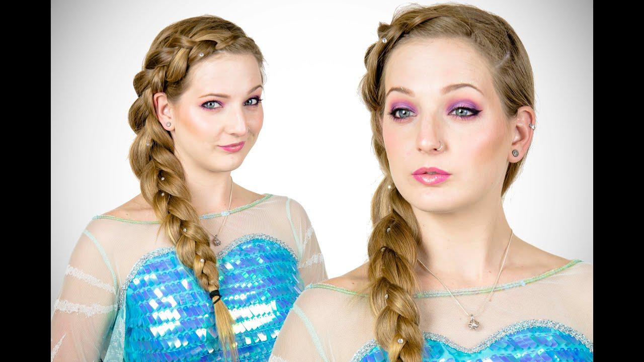 elsa hair and makeup tutorial