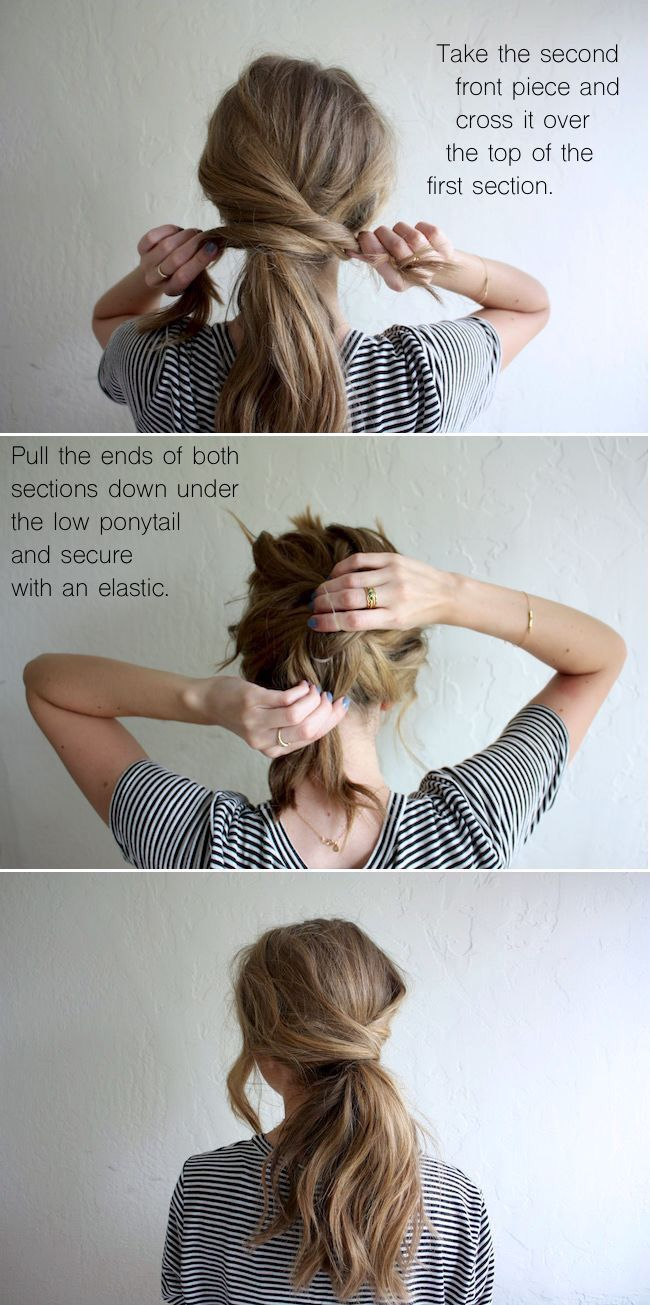 shoulder length hair updo tutorial