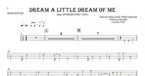 dream a little dream of me guitar tutorial