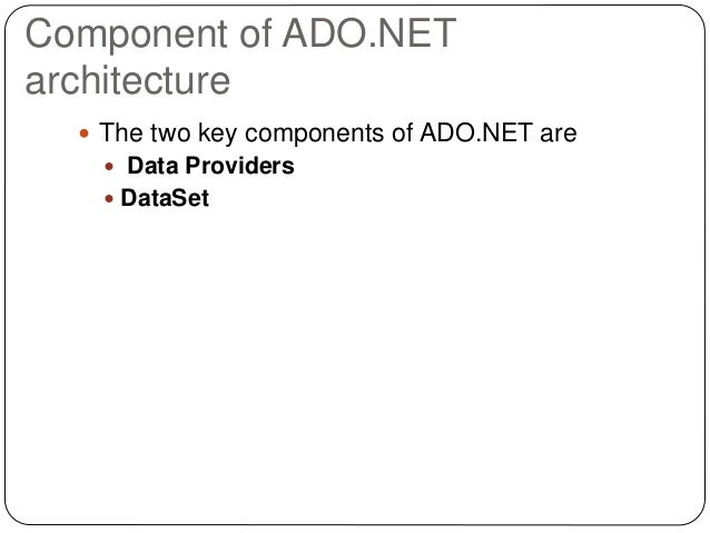 ado net tutorial c#