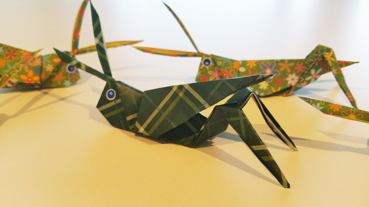 grasshopper kangaroo origami tutorial