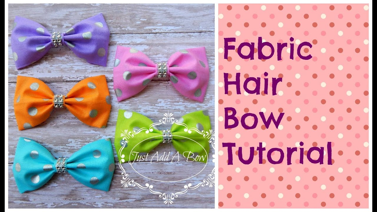 hair bow tutorial fabric