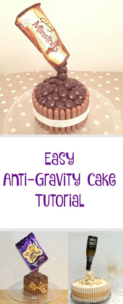 how to make a gravity cake tutorial