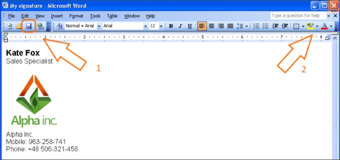 html email signature tutorial