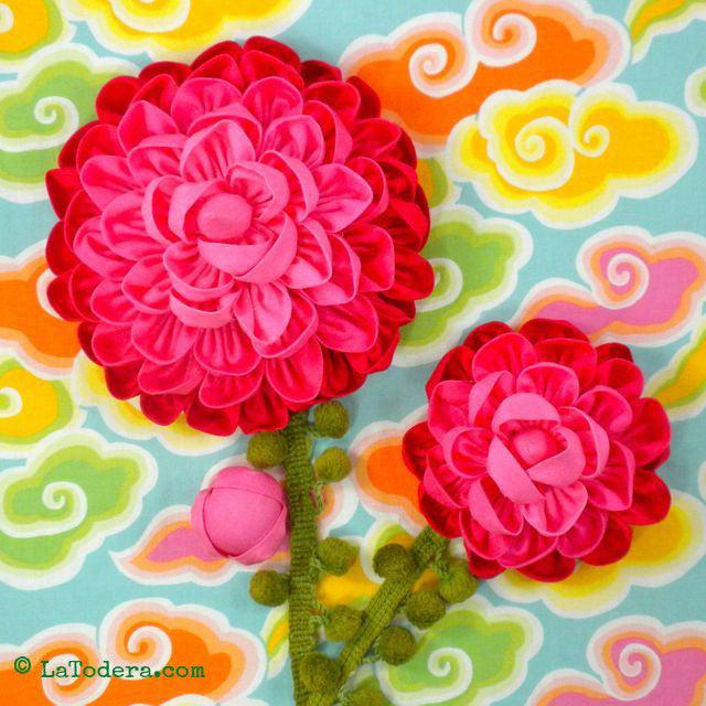 kanzashi flower tutorial pdf