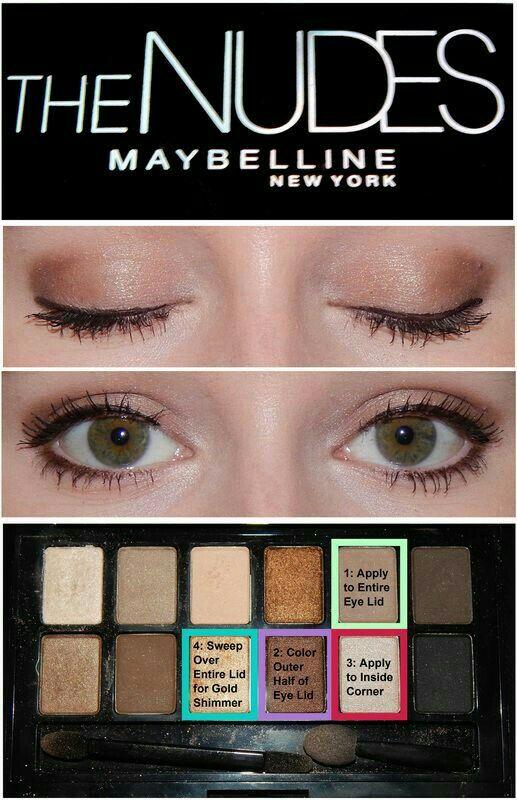 maybelline blushed palette tutorial