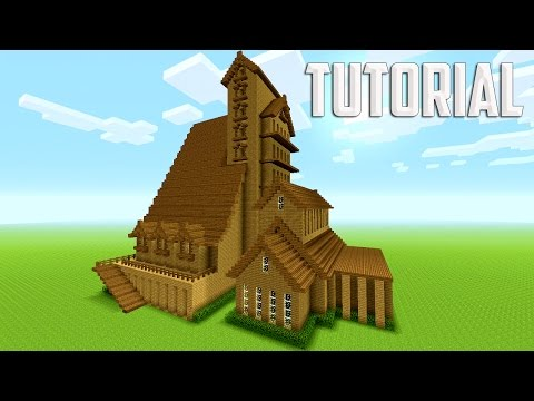 minecraft large mansion tutorial