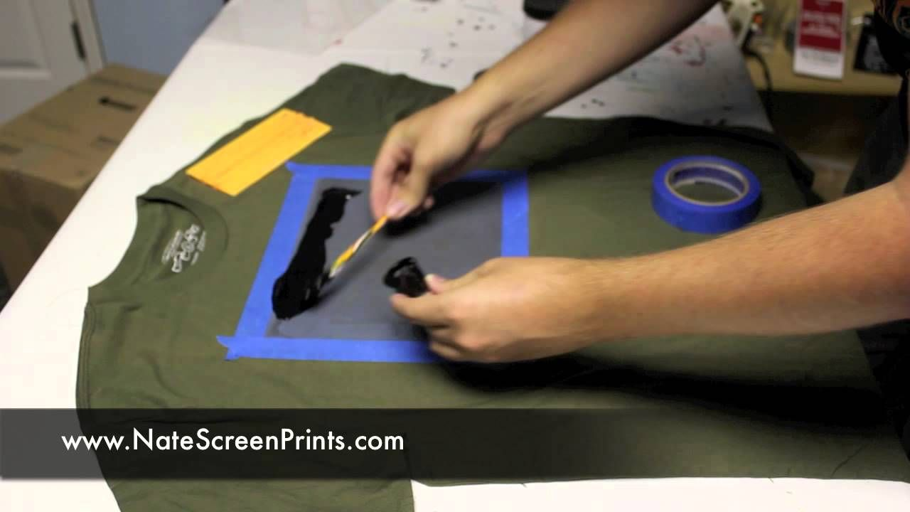 screen printing on fabric tutorial